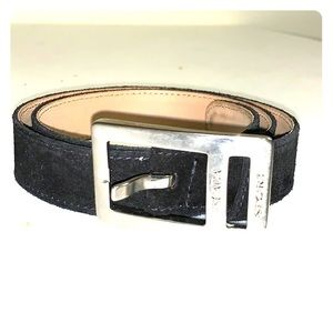 Escada Sport Women's Belt in Black Suede